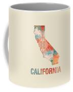 Polygon Mosaic Parchment Map California Coffee Mug