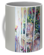 Polynesian Maori Warrior With Spears Coffee Mug