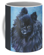 Pomeranian Black Coffee Mug by Lee Ann Shepard