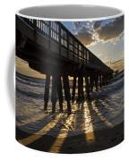 Pompano Beach Fishing Pier At Sunrise Florida Sunrays Coffee Mug
