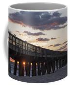 Pompano Beach Fishing Pier At Sunrise Florida Coffee Mug