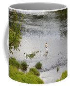 Pondering Fisherman Coffee Mug