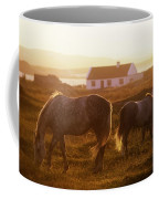 Ponies Grazing In A Field, Connemara Coffee Mug