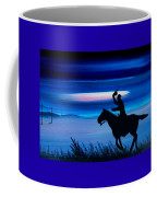 Pony Express Rider Blue Coffee Mug