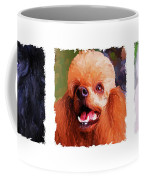 Poodle Trio Coffee Mug by Jai Johnson