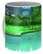 Pool With City Lights Coffee Mug