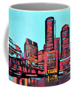 Pop Art Boston Skyline Coffee Mug