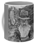 Popcorn Sutton - Black And White - Rocket Fuel Coffee Mug