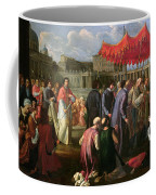 Pope Clement Xi In A Procession In St. Peter's Square In Rome Coffee Mug