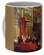 Pope Pius Vii Luigi Barnaba Chiaramonti Attending Chapel 1820 Coffee Mug