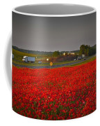 Poppies Along I-85 Coffee Mug