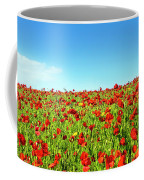 Poppies And A Photographer Coffee Mug