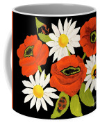 Poppies And Camomiles, Oil Painting Coffee Mug