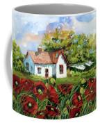 Poppies And Laundry Coffee Mug