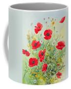 Poppies And Mayweed Coffee Mug by John Gubbins