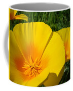 Poppies Art Poppy Flowers 4 Golden Orange California Poppies Coffee Mug