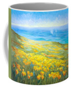 Poppies Greeting Whales Coffee Mug