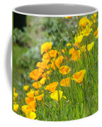 Poppies Hillside Meadow Landscape 19 Poppy Flowers Art Prints Baslee Troutman Coffee Mug
