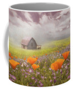 Poppies In A Dream Watercolor Painting Coffee Mug