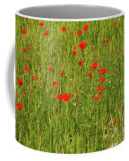 Poppies In A Wheat Field Coffee Mug