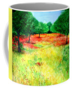 Poppies In The Almond Grove Coffee Mug