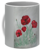 Poppies In The Mist Coffee Mug