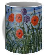 Poppies, Iris, Giant Alium Coffee Mug