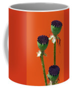 Poppies On Orange Coffee Mug