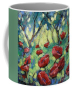 Poppies Through The Forest Coffee Mug