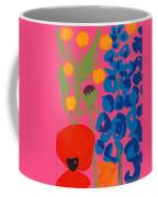 Poppy And Delphinium Coffee Mug