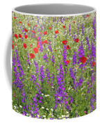 Poppy And Wild Flowers Meadow Nature Scene Coffee Mug