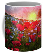 Poppy Fields At Dawn Coffee Mug