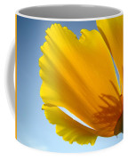 Poppy Flower Art Print Poppies 13 Botanical Floral Art Blue Sky Coffee Mug