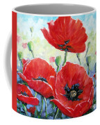 Poppy Love Floral Scene Coffee Mug