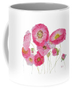 Poppy Painting On White Background Coffee Mug