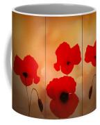 Poppy Triptych Coffee Mug