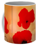Poppy Triptych Coffee Mug by Valerie Anne Kelly