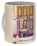 Porch - Cranford Nj - The Birdhouse Collector Coffee Mug by Mike Savad