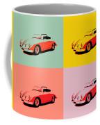 Porsche 356 Pop Art Panels Coffee Mug