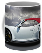 Porsche 911 Turbo S With Clouds Coffee Mug