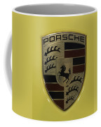Porsche Emblem On Racing Yellow Coffee Mug