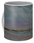 Port Aransas Jetty In Coffee Mug