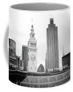 Port Of San Francisco Black And White- Art By Linda Woods Coffee Mug