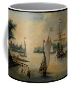 Port Scene With Sailing Ships Coffee Mug