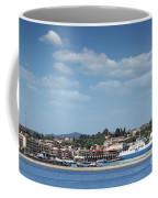 port with ferry boats Corfu Greece Coffee Mug