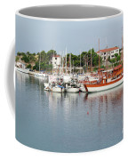 Port With Sailboat And Fishing Boat Coffee Mug