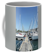 Port With Yacht  Coffee Mug