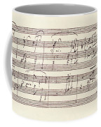 Portion Of The Manuscript Of Beethoven's Sonata In A, Opus 101 Coffee Mug