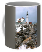 Portland Head Light In Winter Coffee Mug