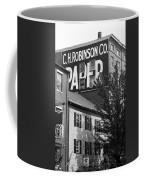 Portland, Maine - Ghost Mural Bw Coffee Mug